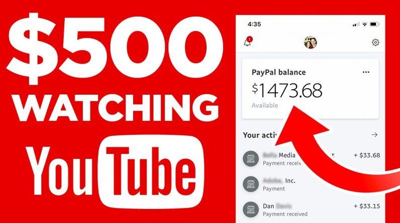 Make Money Watching YOUTUBE Videos (Worldwide) Free Side Hustle!