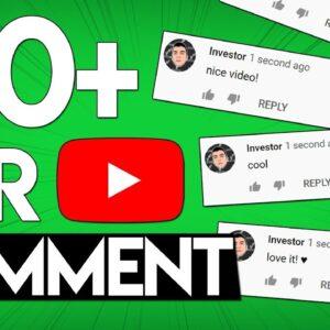 Make $10 Per YouTube Comment (Make Money Online)
